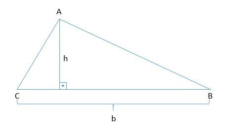 como calcular a área do triângulo