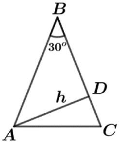 exercício área do triângulo unicamp