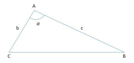 triângulo com ângulo interno