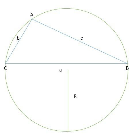 triângulo dentro de uma circunferência