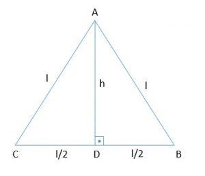 triângulo equilátero altura h