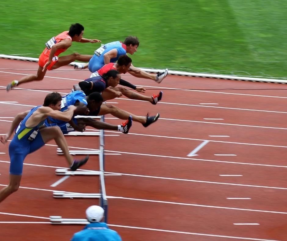 Corrida com obstáculos - atletismo