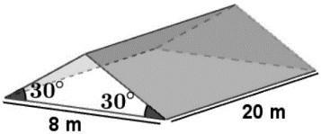 questão de área e volume de prismas