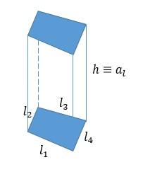 área e volume de um prisma