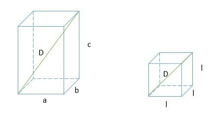 diagonal de um prisma