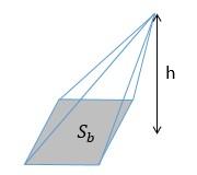 exemplo de um triângulo que faz parte da área da pirâmide