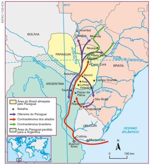 Guerra do Paraguai - Mapa