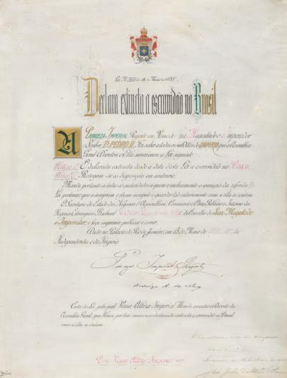 Lei Áurea - Abolição da escravatura