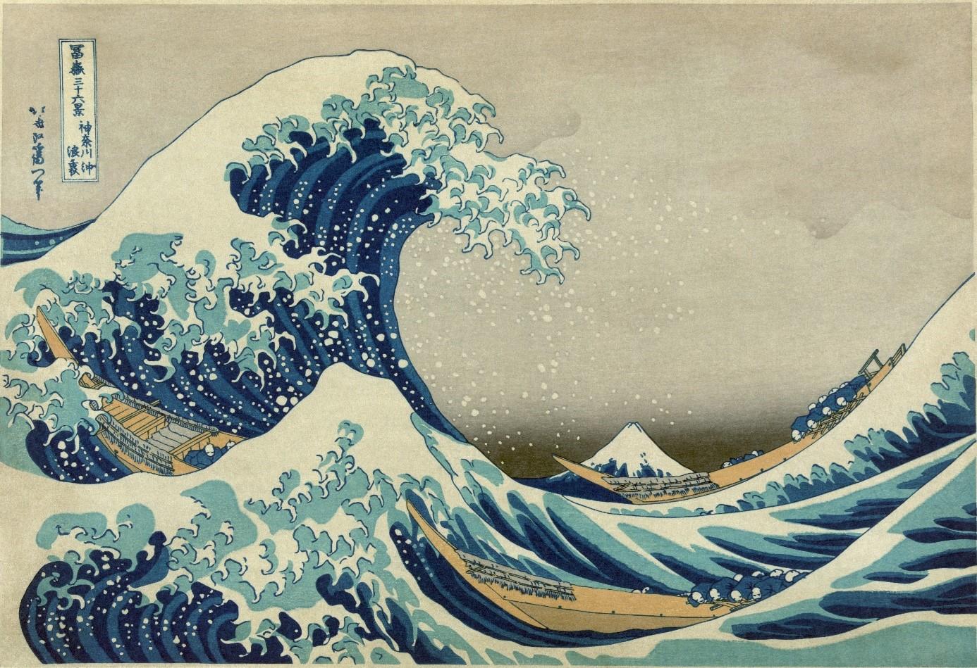 "Obra ""A grande onda"" - arte japonesa"