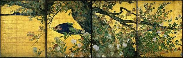 """Pintura """"Bordo"""" de Tohaku - Arte japonesa"""