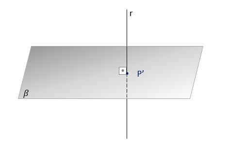 Projeção ortogonal de uma linha