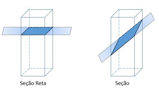 Seção e seção reta