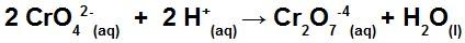 Solução aquosa de íons cromato, exercício de efeito de íon comum