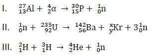 equação do exercício de reações de transmutação
