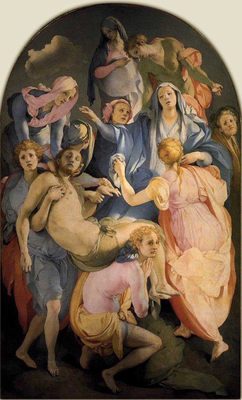 """""""A deposição da cruz"""", 1528, Pontormo. Fonte: Wikipedia"""