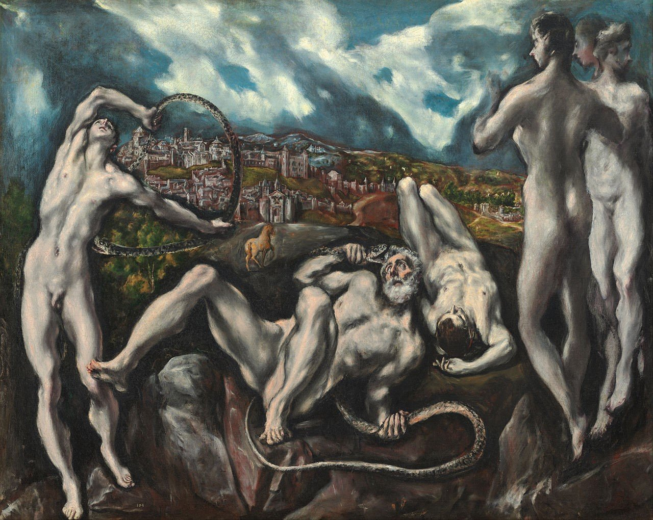 "arte do maneirismo ""Laocoonte"", 1610-1614, El Greco. Obra do Maneirismo. Fonte: Unicamp"