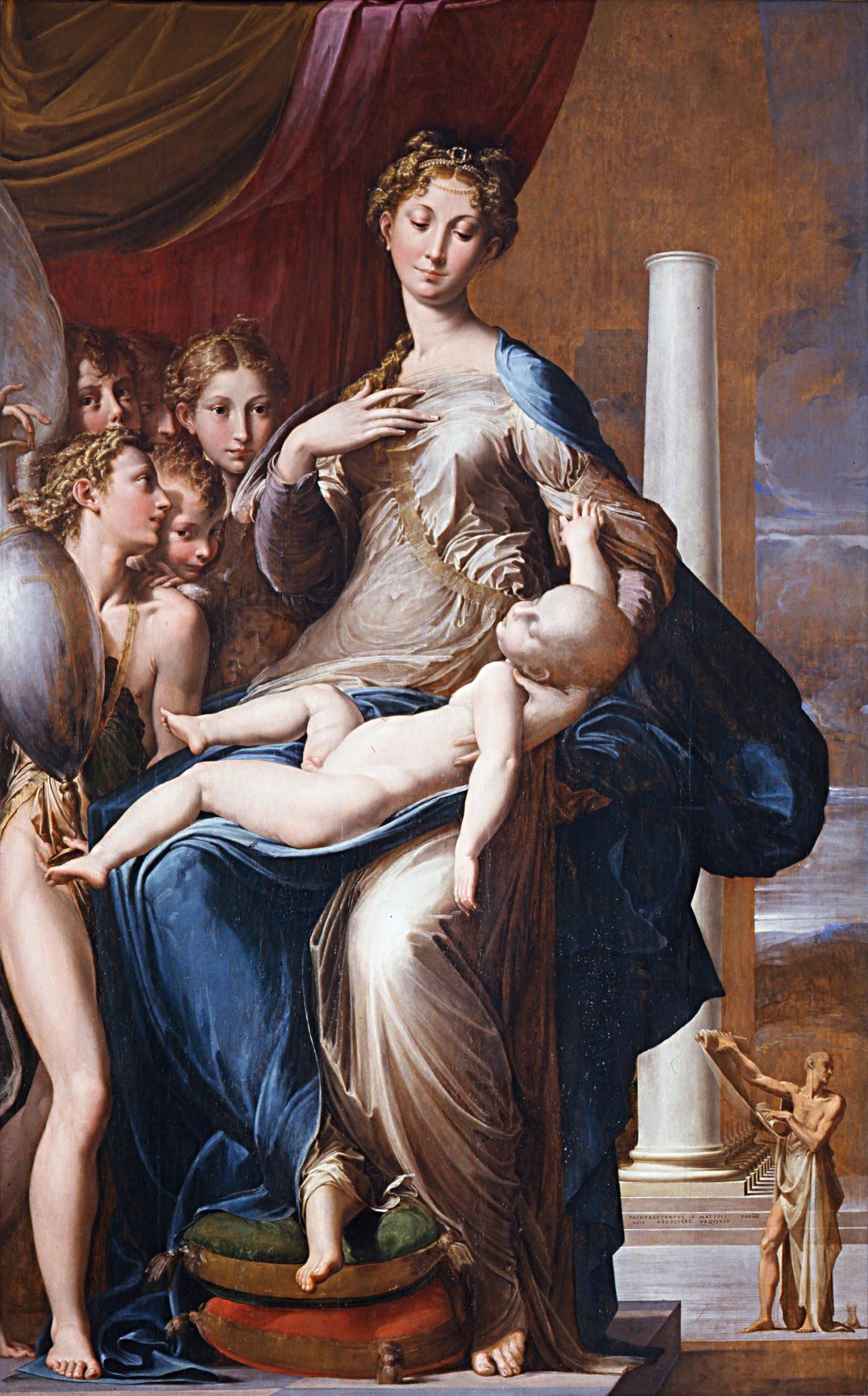 Virgem de pescoço longo, de Parmigianino. Fonte: Virus da Arte