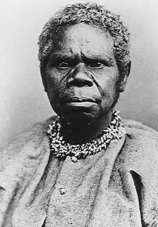 Retrato fotográfico de Truganini, uma das últimas aborígenes não miscigenadas, da Oceania falecida em 8 de maio de 1876.