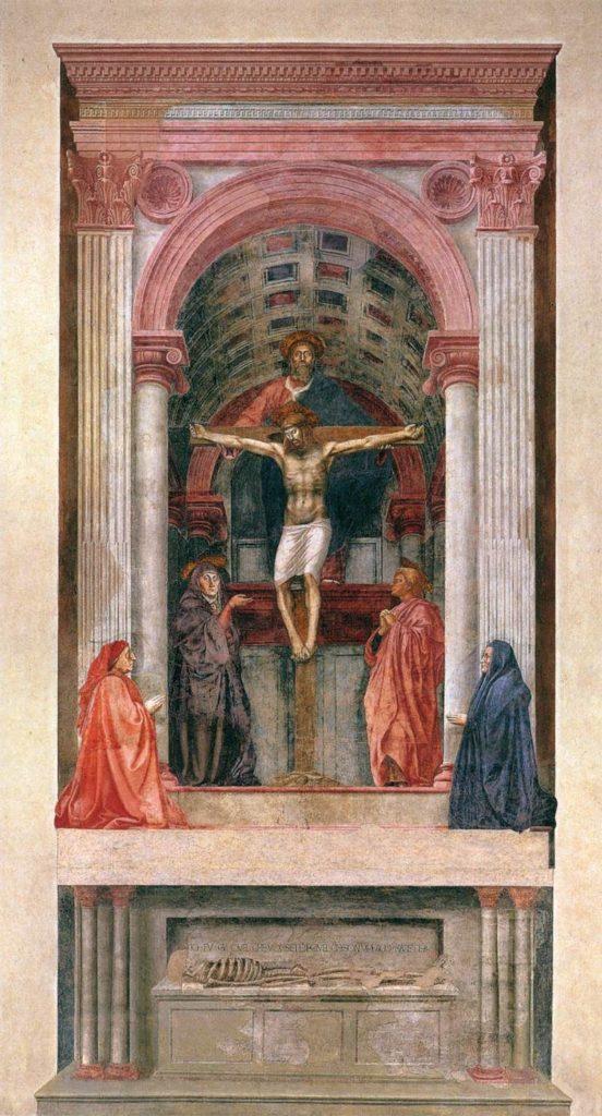 Santíssima Trindade com a Virgem São João e os Mecenas - Renascimento Artístico