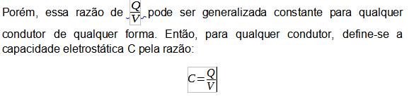 capacidade eletrostática