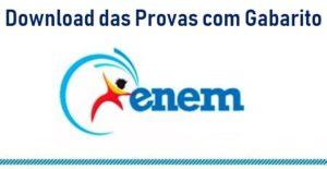 Download das provas do Enem