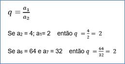 Exemplo de progressão geométrica