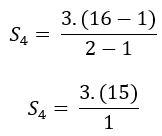 Exemplo de soma de termos de uma pg