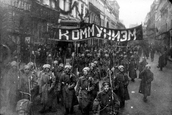 Soldados russos - Revolução Russa