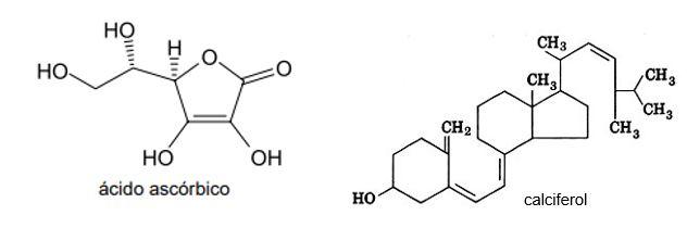 Vitaminas C e D - ponto de ebulição de compostos orgânicos