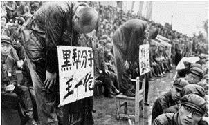Execração pública de dissidentes - Revolução Chinesa
