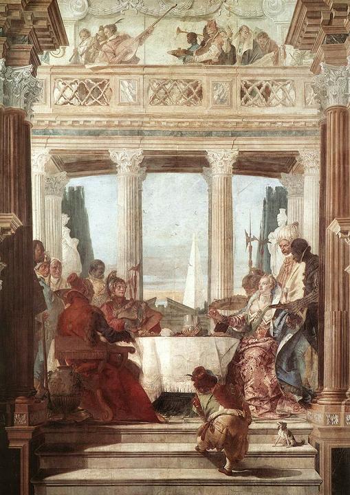 O banquete de Cleópatra - Rococó