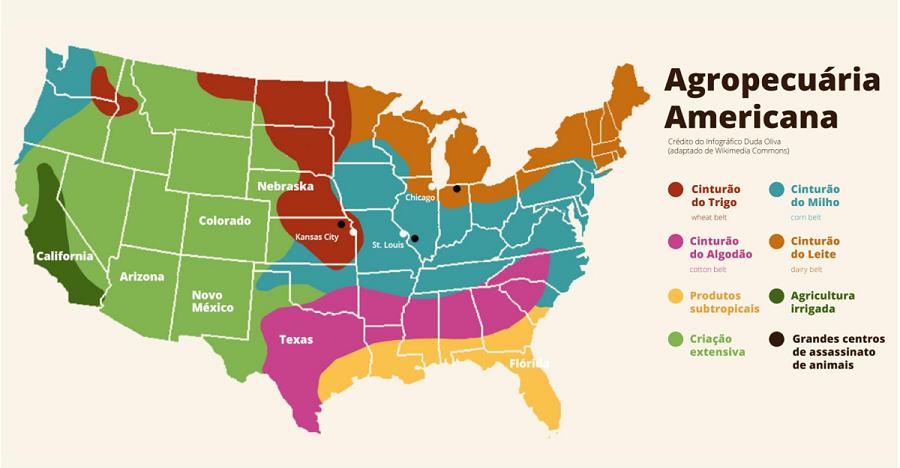 Cinturões agrícolas dos EUA