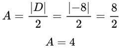 Cálculo da área por determinante