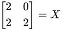 Equação matricial