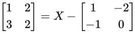 Exemplo de equação matricial