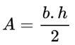 Fórmula de área do triângulo