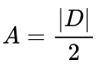 Fórmula de área do triângulo na geometria analítica