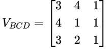 Matriz com cálculo de área