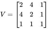 Matriz com coordenadas dos vértices