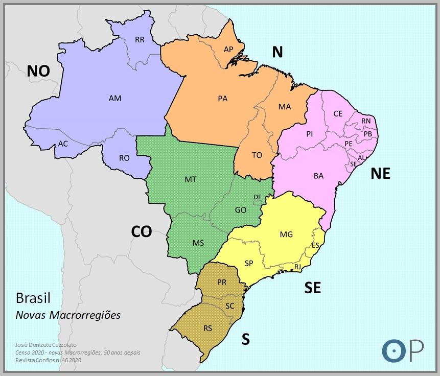 Regionalização do Brasil IBGE