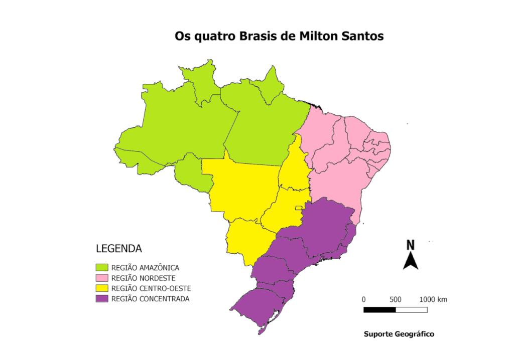 Regionalização do Brasil - Quatro Brasis