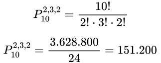 Cálculo de permutações da palavra matemática