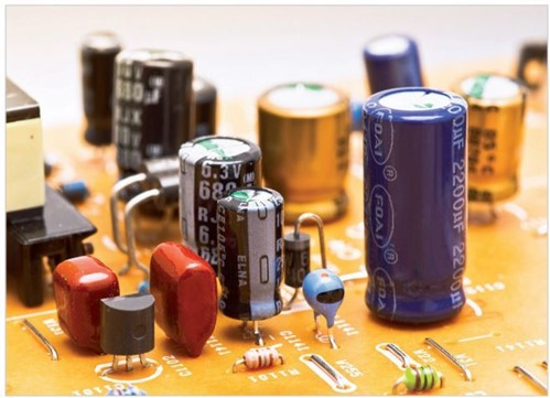 Capacitores num circuito