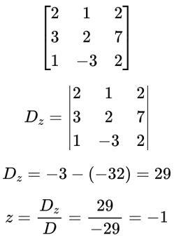 Determinante - sistemas lineares e matrizes