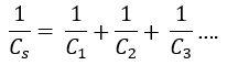 Fórmula capacitor em série