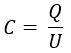 Fórmula de capacitância