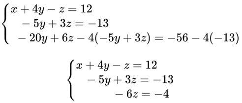 Resolução de sistema linear
