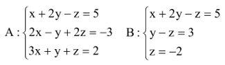 Sistemas lineares - exercícios