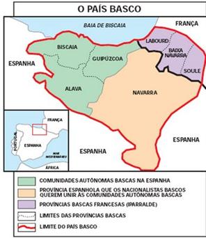 Mapa do País Basco